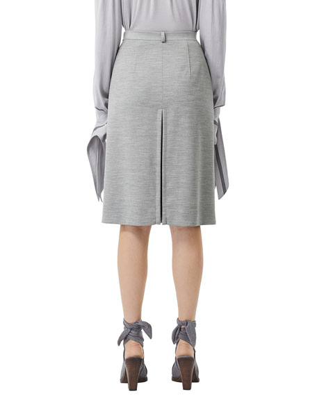 Image 2 of 5: Burberry Jersey A-Line Skirt