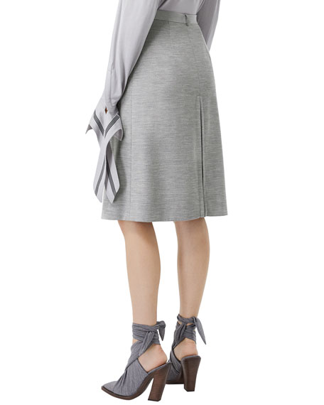 Image 4 of 5: Burberry Jersey A-Line Skirt