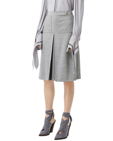 Image 1 of 5: Burberry Jersey A-Line Skirt