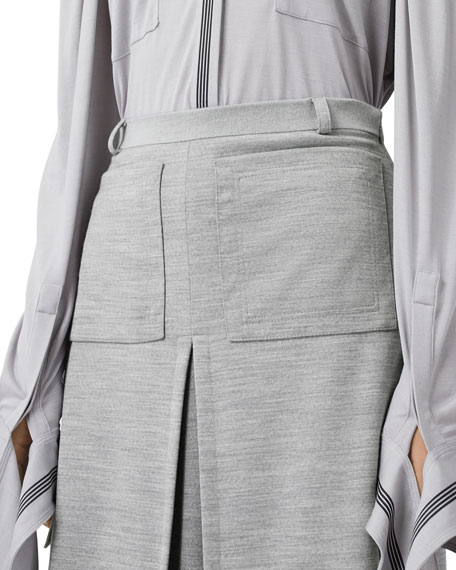 Image 5 of 5: Burberry Jersey A-Line Skirt
