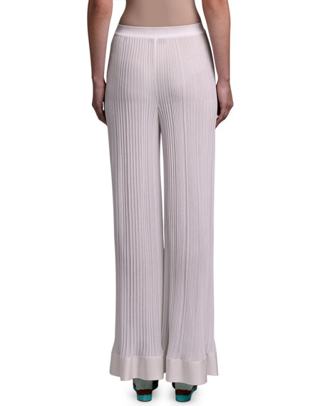 Missoni Pleated Silk Wide-Leg Trousers