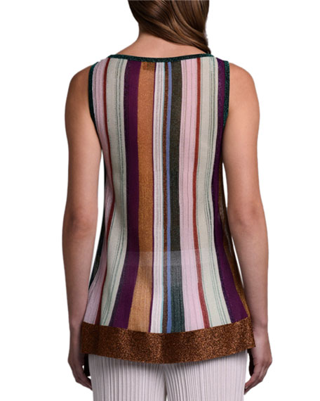Missoni Metallic Striped Tank Top