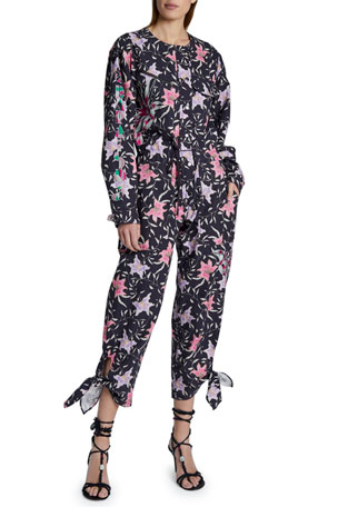 Isabel Marant Gigi Cotton Jumpsuit $1390.00