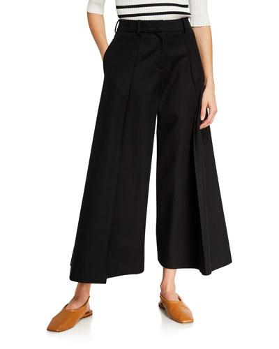 Selma Cotton Wide-Leg Crop Pants