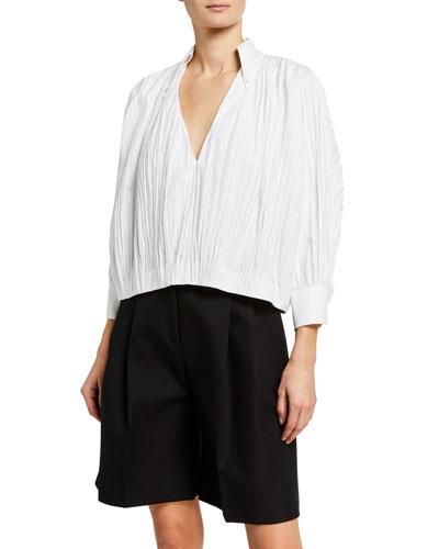 Malon Cotton Long-Sleeve Top