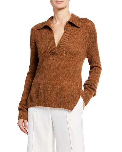 Cass Cashmere Polo Sweater