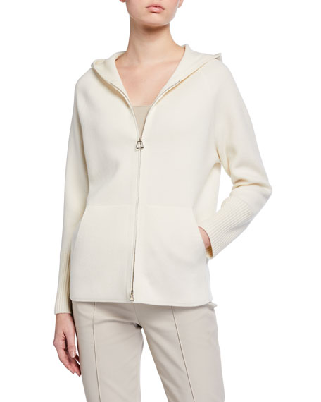 Image 2 of 3: Akris Cashmere Hooded Sweater