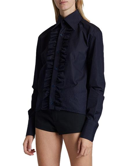 Saint Laurent Ruffled Button-Front Shirt