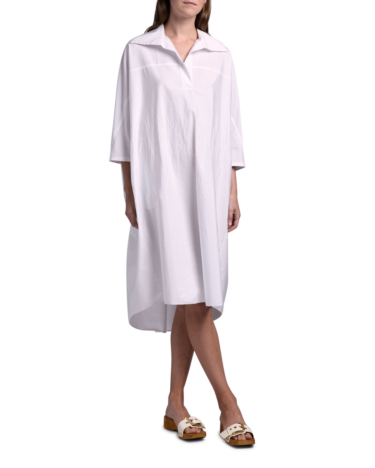 Marni 3/4-Sleeve Shirtdress