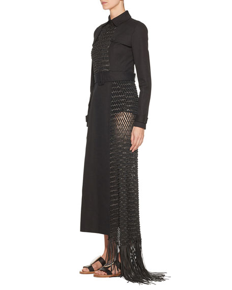 Gabriela Hearst Coiro Macrame Leather Trench Coat