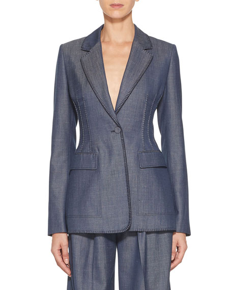 Gabriela Hearst Minos Thread-Embroidered Blazer