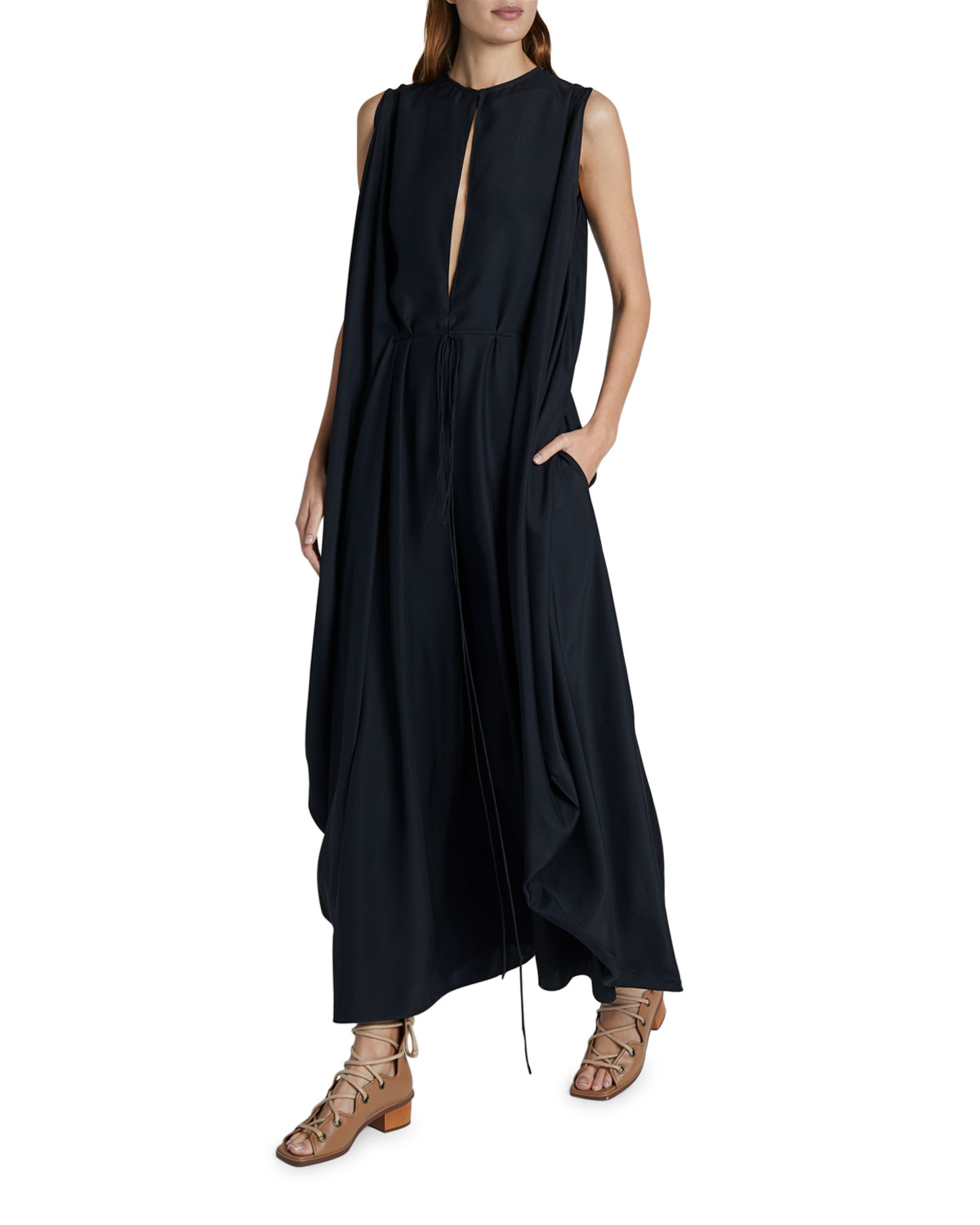 Stella McCartney Satin Sleeveless Maxi Dress