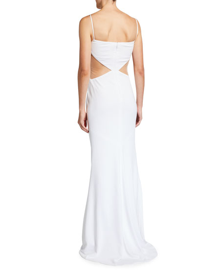 Image 2 of 2: CDGNY Elsie Midriff Cutout Gown
