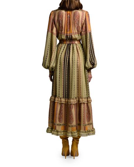 Etro Striped Peasant Dress