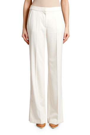 Stella McCartney Wool Flare-Leg Pants