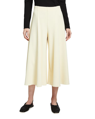 Mildro High-Rise Cropped Wide-Leg Pants