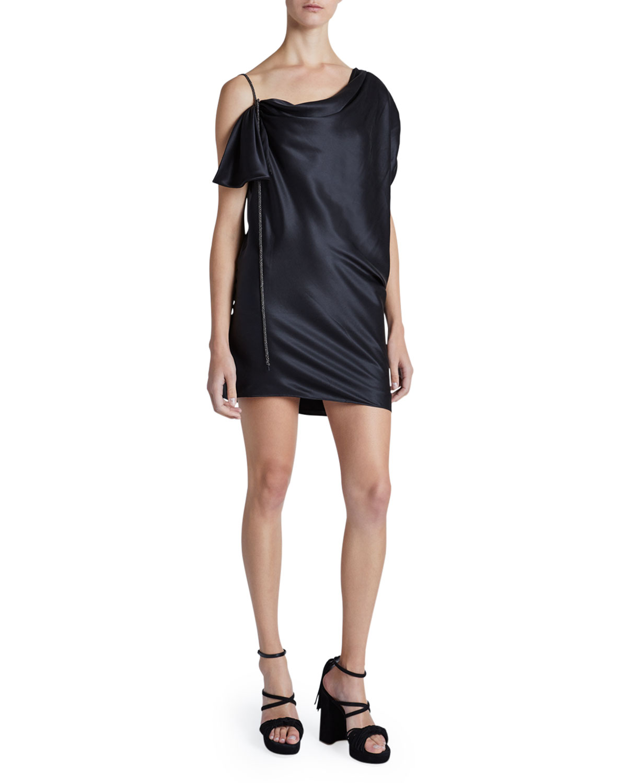 Redemption Silk Asymmetric Mini Dress