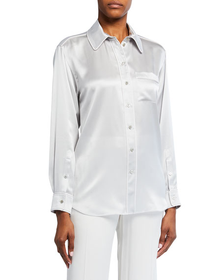 Burberry Carlota Piped Satin Shirt