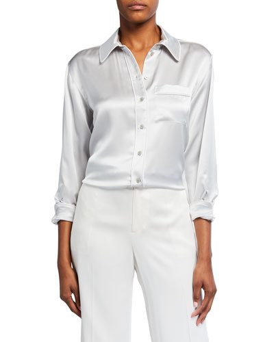 Carlota Piped Satin Shirt