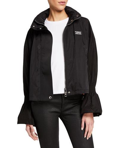 Neston Flare-Cuff Zip-Front Jacket