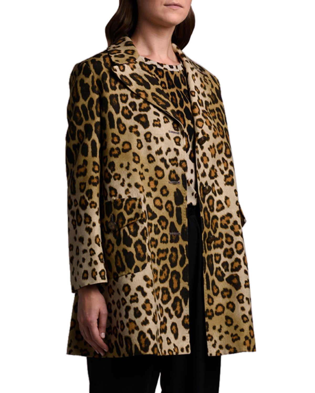 Etro Leopard Silk-Cotton Coat