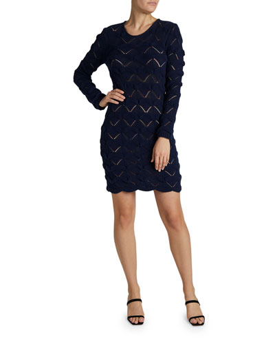Macrame Knit Sweater Dress