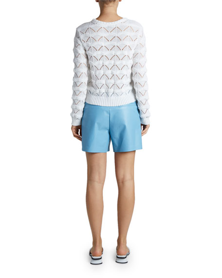 Maison Ullens Macrame Crewneck Sweater