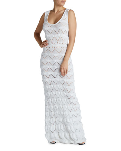 Macrame Maxi Bodycon Dress