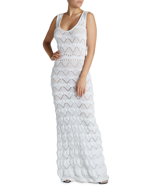 Maison Ullens Macrame Maxi Bodycon Dress