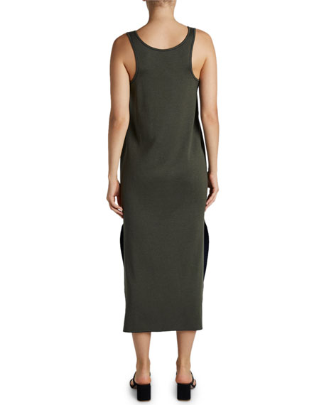 Maison Ullens Cashmere-Silk Sleeveless Midi Dress