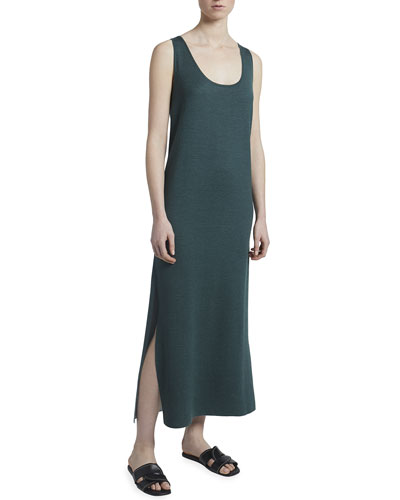 Cashmere-Silk Sleeveless Midi Dress