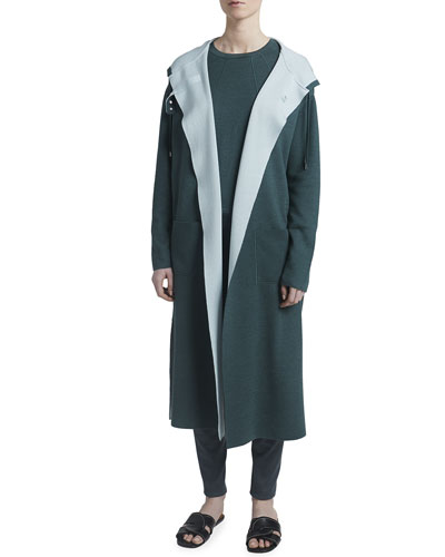 Cashmere-Silk Reversible Coat