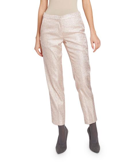 Dries Van Noten Sparkly Cropped Pants