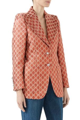 Gucci Heritage GG Metallic Single-Breasted Jacket