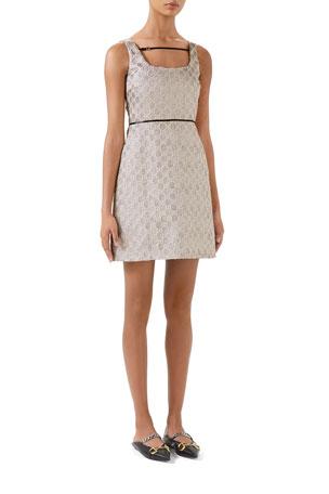 Gucci Metallic Heritage GG Sleeveless Dress