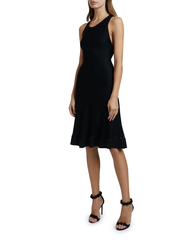 ALAIA Jersey Cross-back Knee-Length Dress