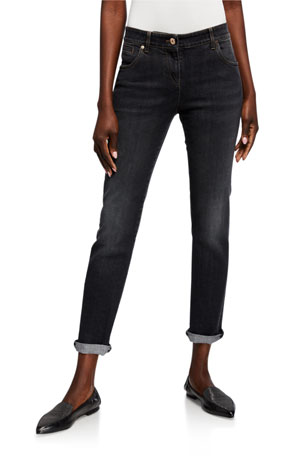 Brunello Cucinelli Monili-Beaded Straight Leg Jeans