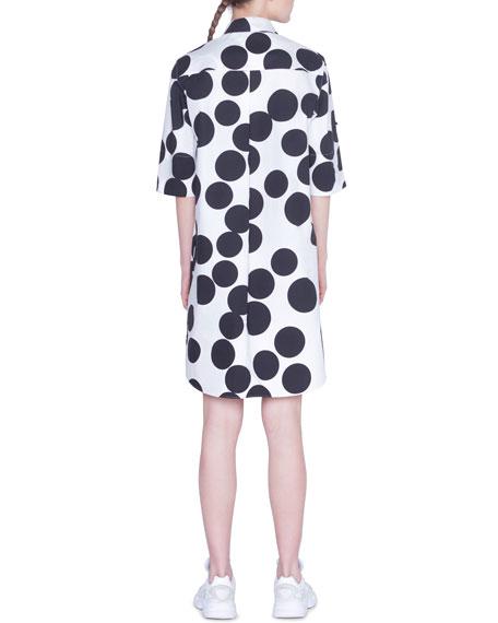 Akris punto Poplin Luna-Dotted Cotton Dress
