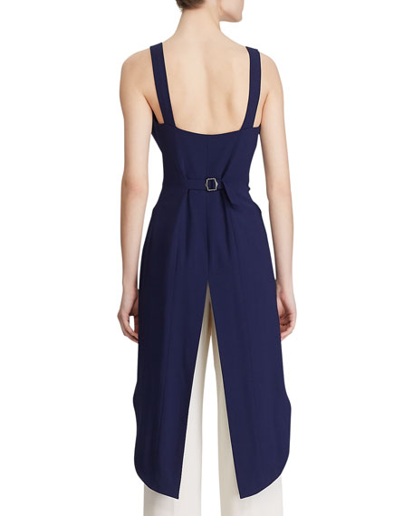 Image 2 of 3: Ralph Lauren Collection Bruno High-Low Vest Blouse