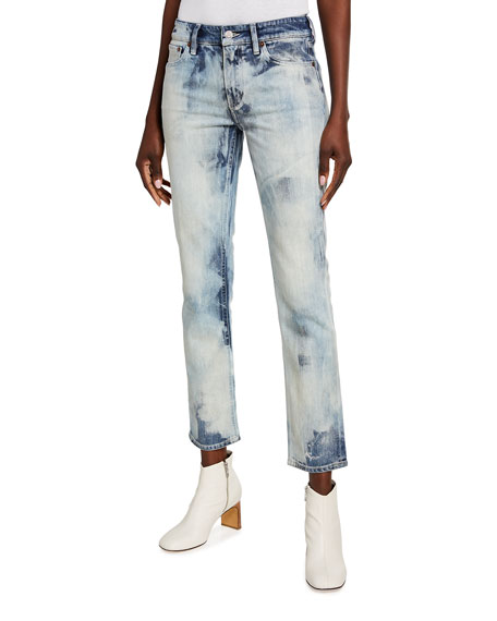 Image 1 of 3: Ralph Lauren Collection 160 Slim-Leg Cropped Jeans