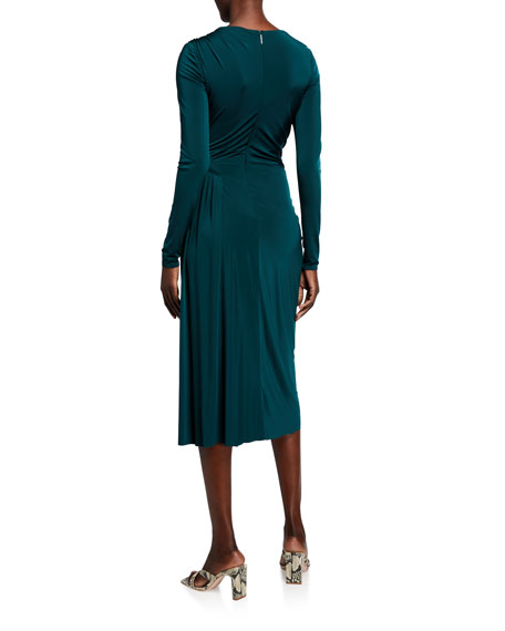 Image 2 of 2: Jason Wu Collection Evening Jersey Long-Sleeve Dress