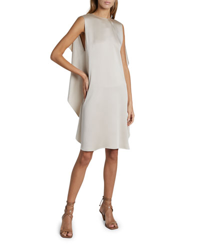 Mia Cape Satin Dress