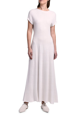 Agnona Cap-Sleeve Maxi Dress