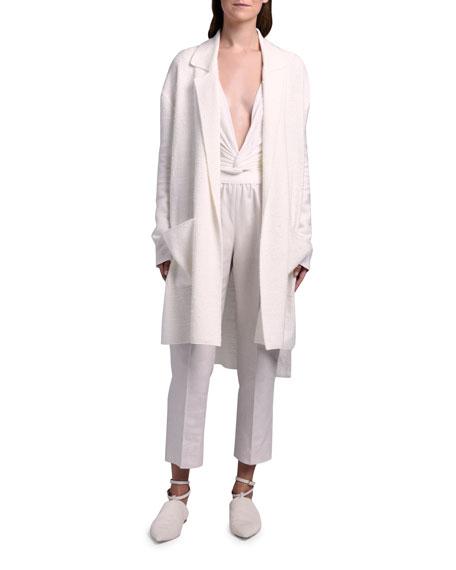 Agnona Silk-Linen Knit Duster Coat