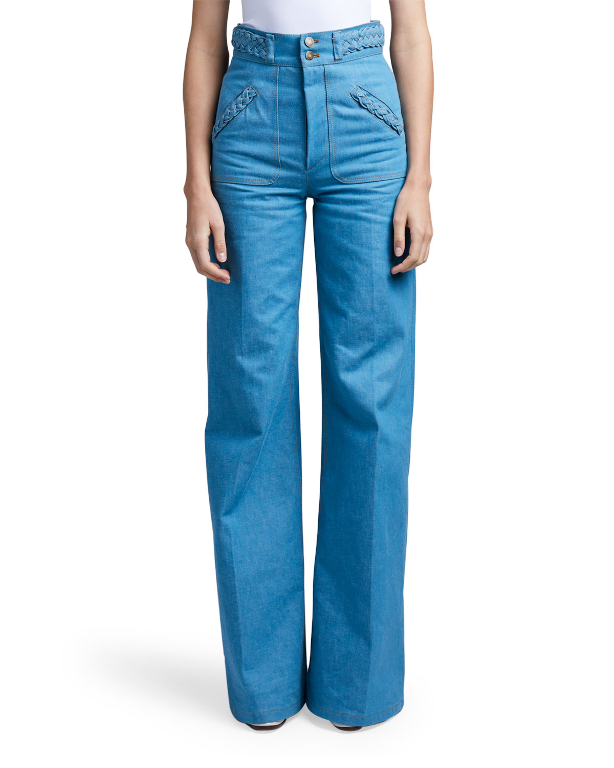 Marc Jacobs (Runway) Braided-Waist Flared Jeans