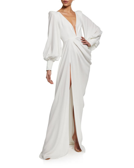 Image 1 of 2: Alex Perry Clark Twisted Full-Sleeve Gown