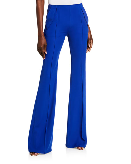 Image 1 of 3: ADEAM Japanese Crepe Boot-Cut Pants