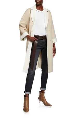 Brunello Cucinelli Cashmere Double-Face Coat