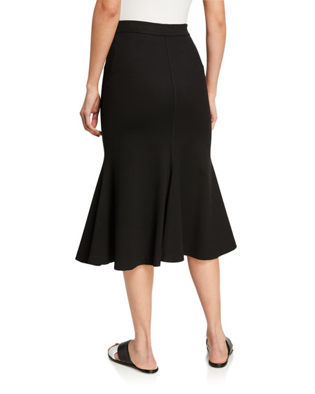 Image 2 of 3: Rosetta Getty Jersey Fluted Skirt