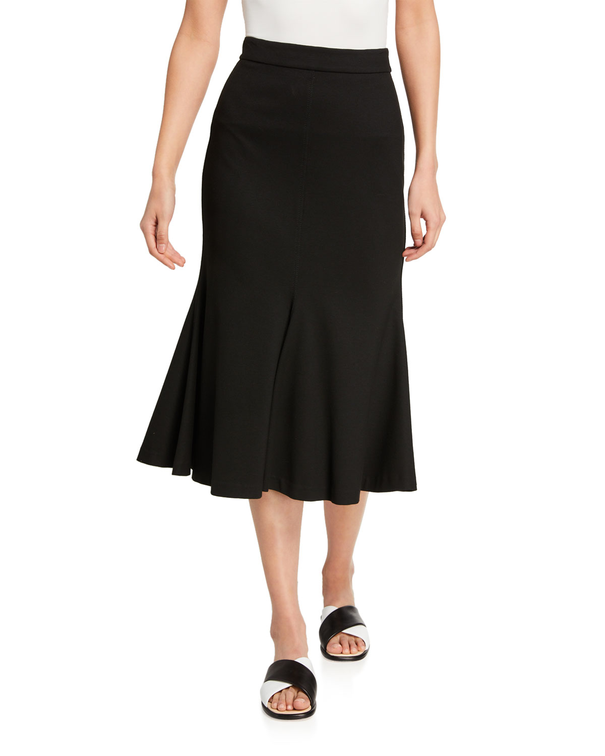 Rosetta Getty Jersey Fluted Skirt